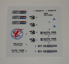 GI Joe Devilfish Sticker Decal Sheet