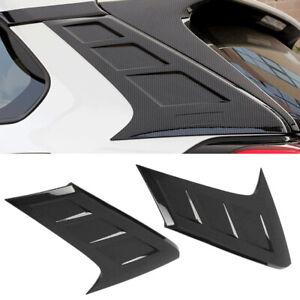 Carbon Fiber Style Rear Window Spoiler Pillar Cover Trim Fit For Toyota RAV4