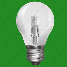 8x 70W Clear Dimmable Halogen GLS Energy Saving Light Bulb, ES E27 Screw Lamps