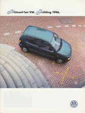 PROSPEKT BROCHURE VOLKSWAGEN PROGRAMM 1996 -deutsch-