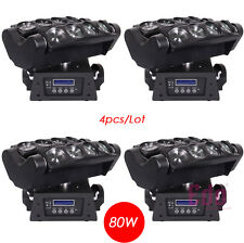 4pcs/lot 8×10W Cree LED spider Christmas dj disco party stage moving head light