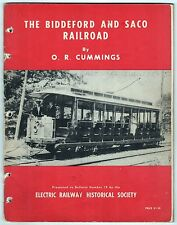 RARE 1956 BIDDEFORD SACO RAILWAY Cummings ELECTRIC Trolley MAINE History TRAIN