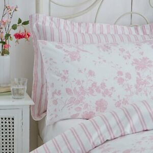 Charlotte Thomas Amelie Toile Housewife Pillowcases in Pink