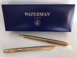 Waterman Hemisphere Stardust Gold Pen and Pencil Set
