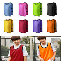 Kid Children Team Sports Football Soccer Training Train Pinnies Jerseys Bib Vest