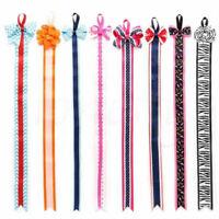Kids Girls Hair Clip Bow Ribbon Holder Grosgrain Storage Organizer Accessories