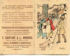 PETIT ALMANACH /// CALENDRIER DE 1921 // USINES A SAINT RAMBERT D'ALBON / DROME