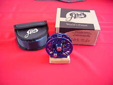 Abel Fly Reel Super 5N Blue Anodized Fly Reel NEW GREAT