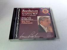"LEONARD BERNSTEIN ""BEETHOVEN SYMPHONY NO 9 "" CD 4 TRACKS COMO NUEVO NEW YORK PHI"