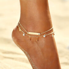 Gold Star Ankle Bracelet Women Anklet Adjustable Chain Foot Beach Body Jewelry