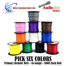 6 Spools 100 Feet Rolls 16 Gauge Primary Power Remote Wire Power Cable Car Alarm