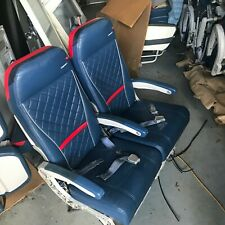 Delta airlines B767 Comfort plus double, Leather seat, Airline seats