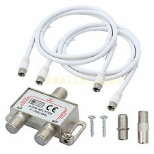 2 Way Splitter F Type 5-2500MHz Aerial/Cable TV/Broadband connection AU STOCK
