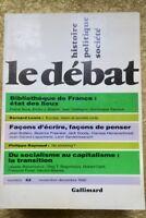 Le débat, Gallimard, histoire politique, société, novembre décembre 1990