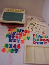 Fisher Price School Days Desk Vintage 1972 Preschool Toy ABC ALPHABET learning