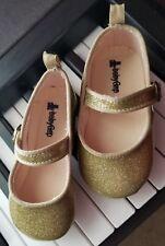 Baby Gap Girls Gold Sparkle Glitter Ballet Flats Crib Shoes 18-24 Months