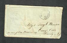USS Continental Union Civil War Ship Cover Transcribed Contents Rare 1864