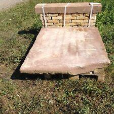 Antike Ofen Sitzbank Buntsandstein Ofenplatte Holz Heizung Kamin Natursteine