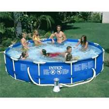 INTEX 12 x 30 Metal Frame Set Swimming Pool w/ Filter Pump - 28211EH (Open Box)