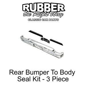 1960 - 1965 Ford Falcon & Ranchero Rear Bumper To Body Seal Kit - 3 Piece