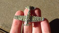 Homefront WW2 US ARMY MILITARY Airplane Jeweled PIN BROOCH SWEETHEART PIN