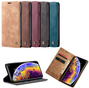 Leather iPhone Case For 6 7 8 Plus XR XS SE2 11 Pro Max 12 Pro Max Mini Magnetic