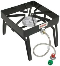 Single Burner Gas Stove Outdoor Cooking Stand 55000 BTU Propane Black Steel New