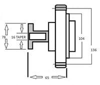Viscous Fan Clutch - GMB for Toyota Hilux VZN167 VZN172 3.4-V6 5VZ-FE (02-05)