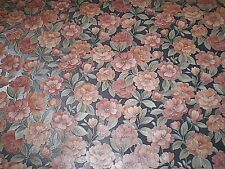 Vintage Satin Pink & Peach Floral on Dark Silver Gray by Porcelain Prints 19502