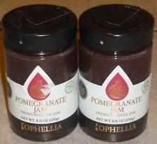 Ophellia Greek Premium Jam 85% Fruit 8 Oz. (2 x Pomegranate), Product Of GREECE