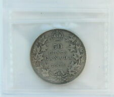 1911 George V 50 cents CAN • Silver • Grade F-12