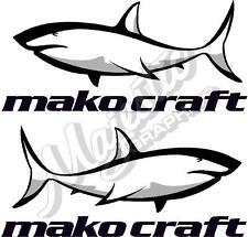 MAKO CRAFT - 420mm x 190mm X 2 - BOAT DECALS