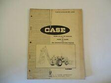 Case Parts Catalog A966 Model 33 & 33S Backhoe 33 Loader 580 King Tractor
