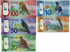 "NZ""2016""BRIGHT MONEY""GEM UNC""BANKNOTE SET $5,$10,$20,$50+$100""RARE""1 set 5 Notes"