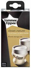 Tommee Tippee Milk Storage Lids X 4 43136171