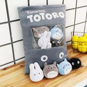 8Pcs Creative Plush Toys Totoro Snack Pillow Dolls Stuffed Kawaii Children Kids
