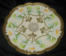 OLD VIENNA CHINA HAND PAINTED PORCELAIN PLATE w BOLD ART NOUVEAU FLOWERS