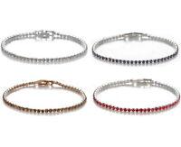 Damen Tennis Armband Zirkonia Silber/Gold Handkette Ketten Kristall Modisch Reif