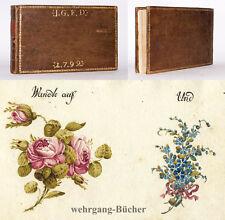 Stammbuch, 1792-1811, J. G. F. D. Erfurt, Aquarelle, Zeichnungen, 24 Einträge