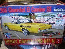 AMT1018 1018 1968 El Camino SS w/Soap Box Derby Car 1/25 Kit Factory Sealed NIB