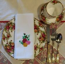 """Old Country Roses """"Royal Albert"""" High Quality Napkins Set of 4"""