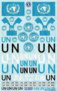 2500 - Decals UN Decalbogen 1:35