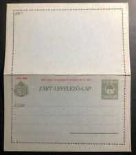 Mint Hungary Postal Stationery Letter Postcard 1915
