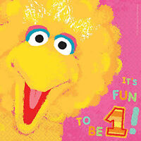 SESAME STREET 1ST BIRTHDAY LUNCH NAPKINS PACK OF 36 TABLE DECORATION PARTY SU...