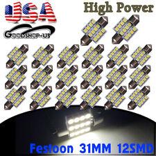 20X 31MM 12SMD Festoon LED White Dome Map Interior Light Bulbs DE3021 3022 3175