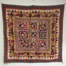 Vintage SUDHA Shisha Mirrored Embroidery KUTCH Work TAPESTRY INDIA
