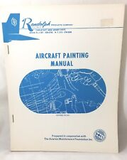 Vintage Aircraft Painting Manual Randolph Products Company Nj, Aviation Original