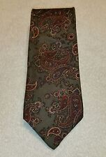 Slip-Stitch Green Floral Mens Tie 100% Silk Made In The USA