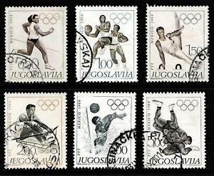 Yugoslavia 1968 Olympic Games, Mexico - Used Set - Cat £7 - (241)