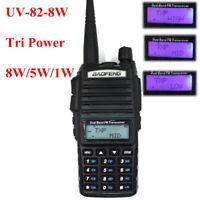 10Km Baofeng UV-82 8W Walkie talkie 8W/4W/1W VHF/UHF dual band two way radio